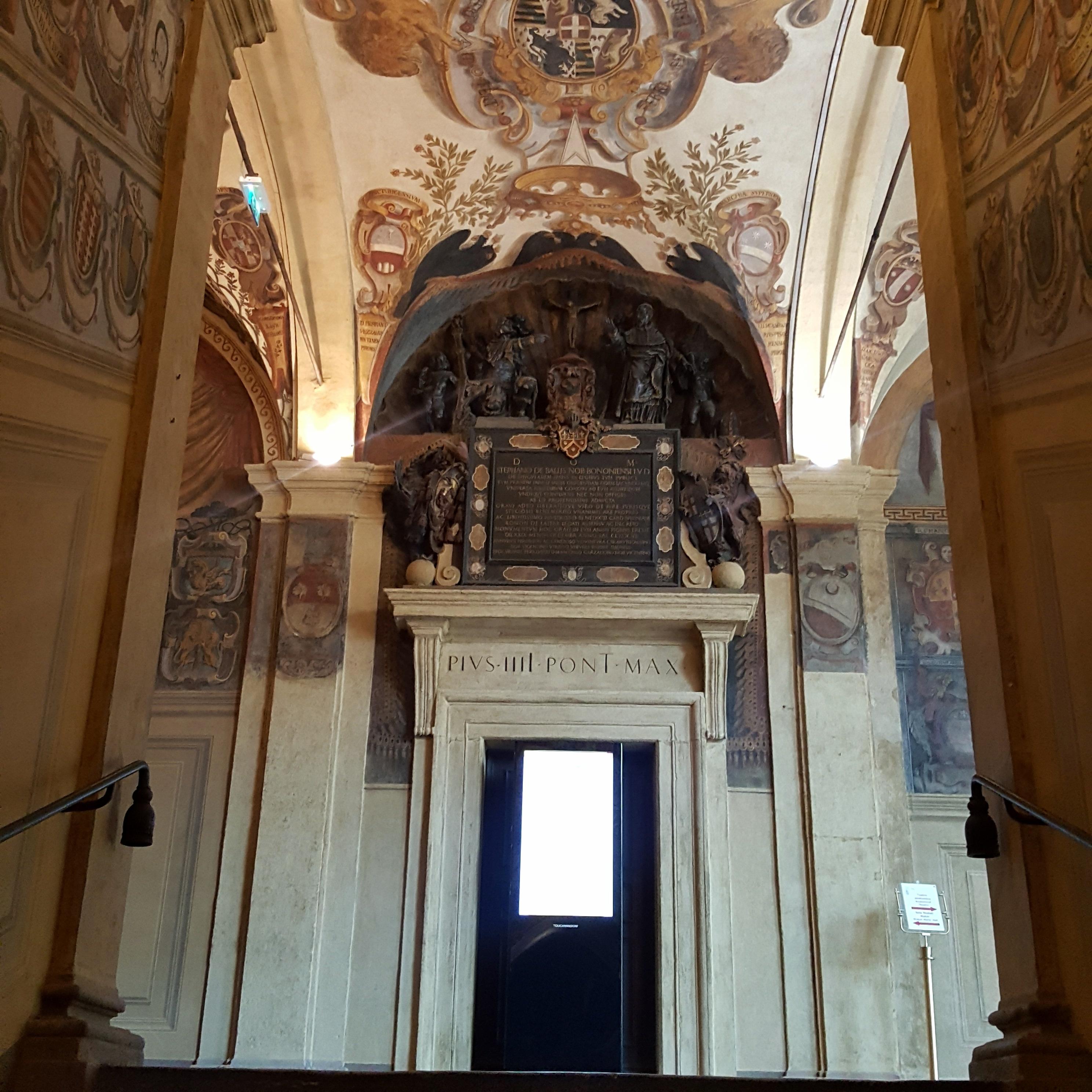 Biblioteka w Bolonii sklepienie