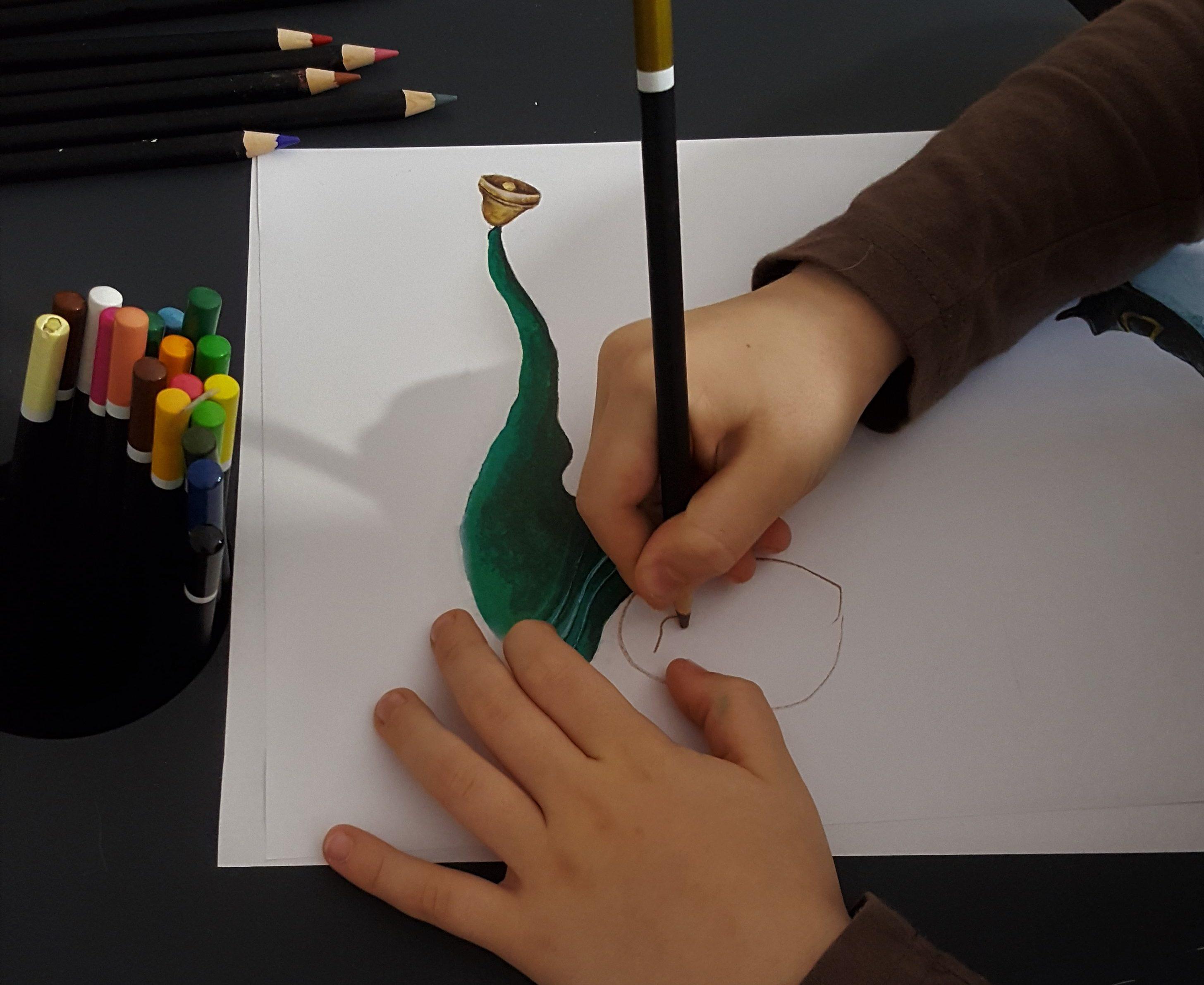Elfy rysunek - Pani Imbir i Szkoła Elfów