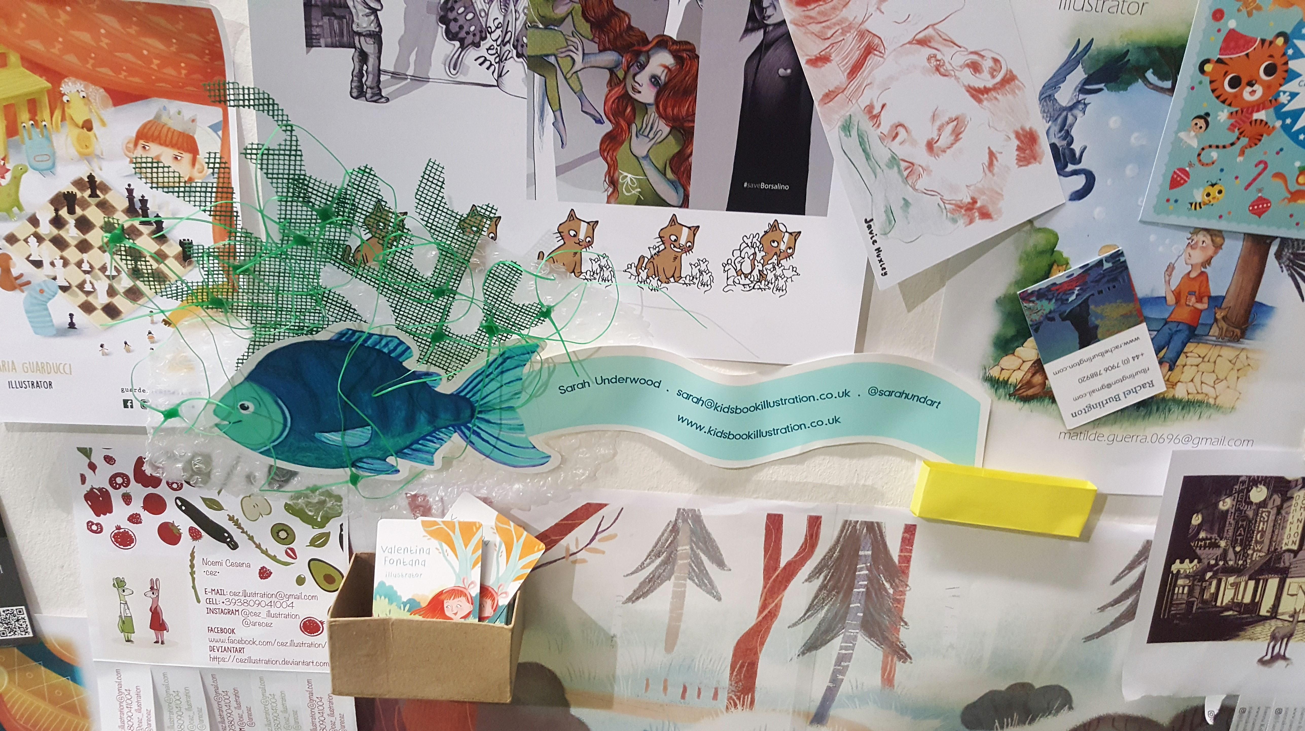 Ilustratorzy podczas targów książki dla dzieci w Bolonii